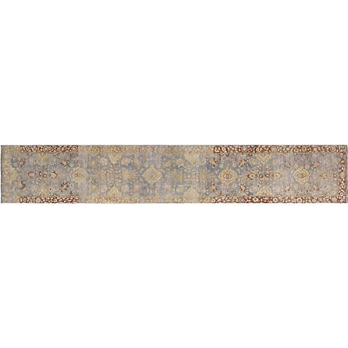 "Indian Tabriz Carpet, 2'5"" x 13'7"""