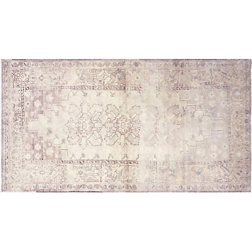 "1960s Turkish Oushak Carpet, 4' x 7'5"""