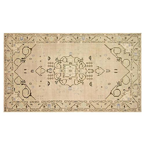 "1960s Turkish Oushak Carpet, 5'2"" x 9'4"""