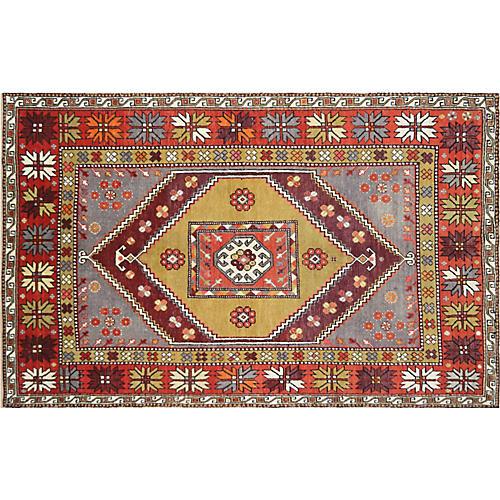 "1960s Turkish Oushak Carpet, 5'7"" x 8'8"""