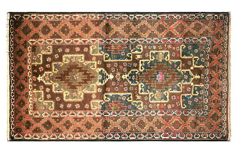 1970s Afghan Baluch Rug, 2'11