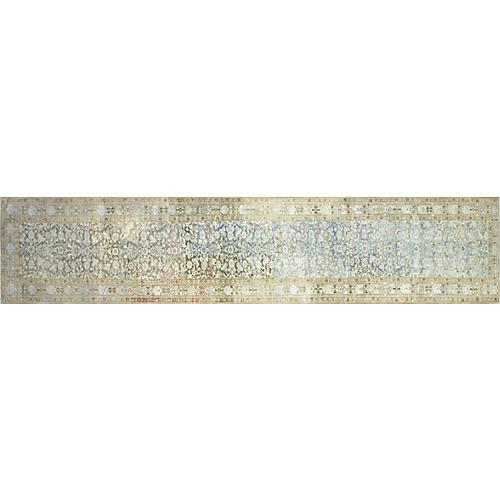 "1920s Persian Malayer Rug, 3'4"" x 15'11"""