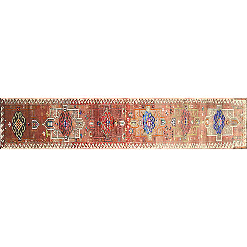 "1960s Turkish Oushak Runner, 2'8"" x13'7"""