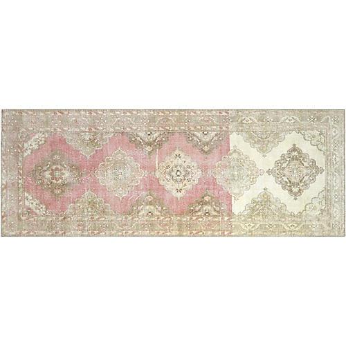 "1960s Turkish Oushak Carpet,4'8"" x 12'8"""
