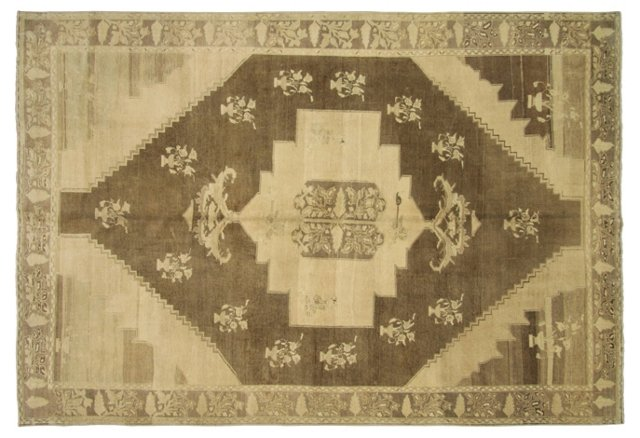 "Turkish Oushak Rug, 7'3"" x 10'10"""