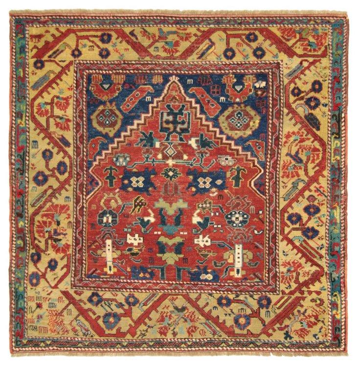 "Antique Ladik Prayer Rug, 4'6"" x 4'7"""