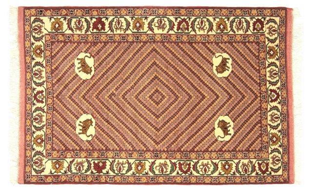 Persian Qashqai Rug, 4' x 5'