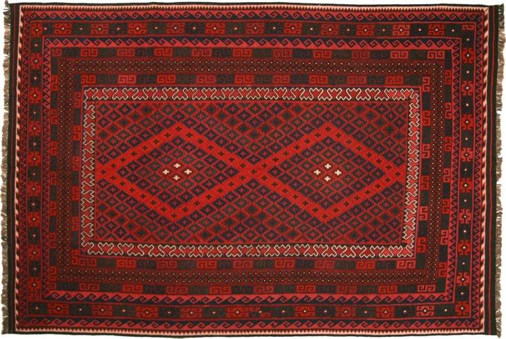 "Afghan Kilim, 7'6"" x 11'"