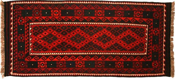 "Afghan Kilim, 7' x 3'2"""