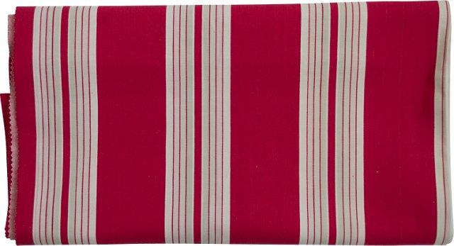 1950s French   Mattress Ticking, 3.8 Yds