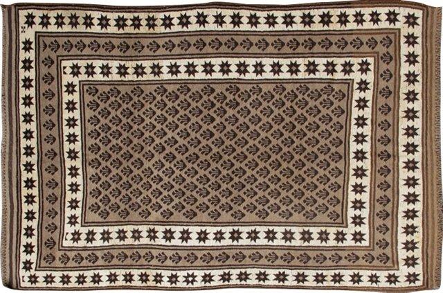 "Brown Moroccan Rug,  5'4"" x 8'2"""