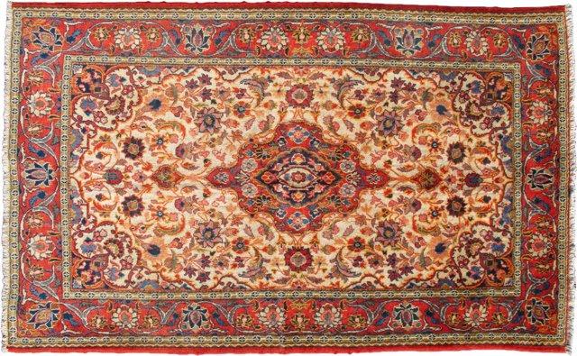 """Fine Persian Isfahan  6'9"""" x 4'4"""""""