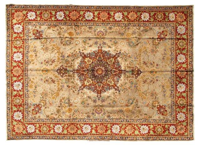"Antique Persian Tabriz, 8'2"" x 11'5"""