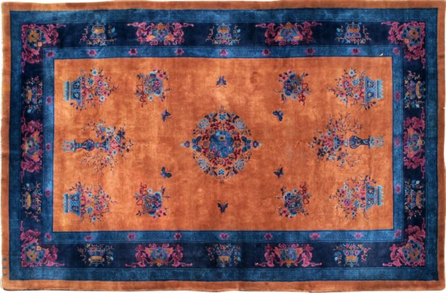 "Antique Chinese Carpet, 9'3"" x 14'4"""