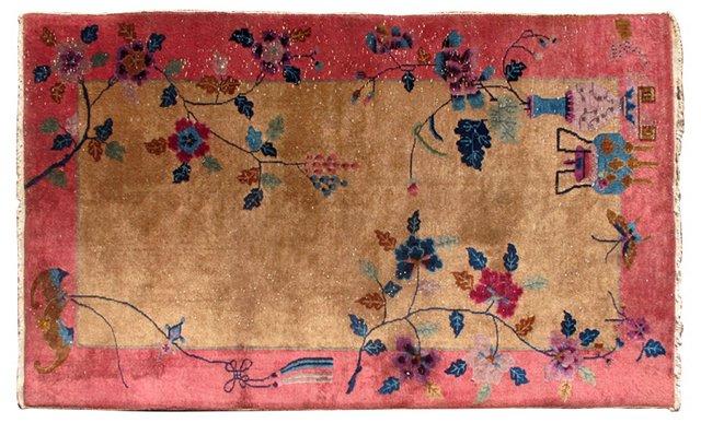 "Chinese Art Deco Rug,  4' x 6'9"""