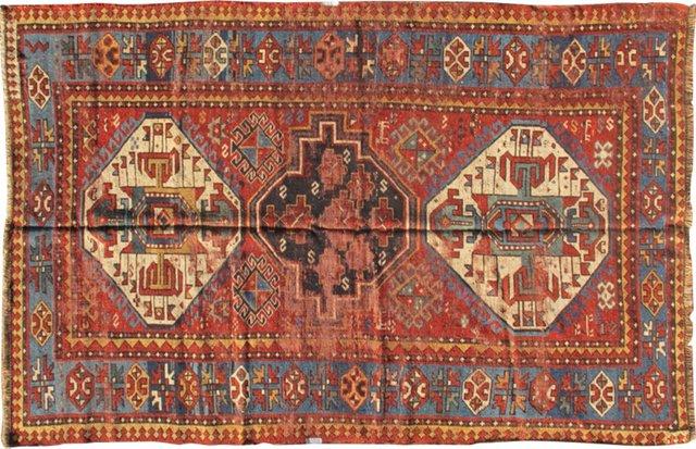 """Antique Caucasian Kazak, 6'10"""" x 4'1"""""""