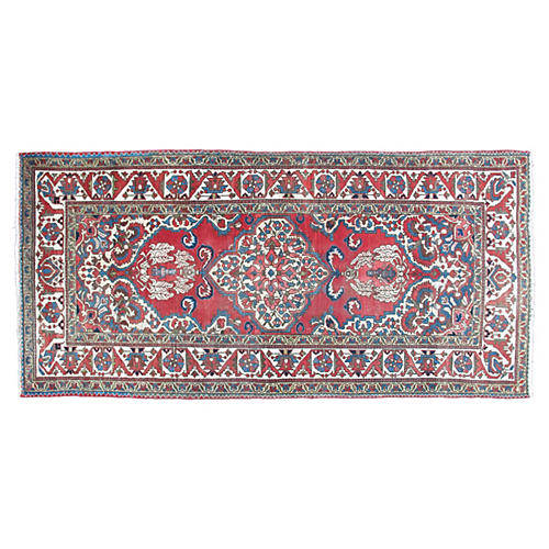 "Antique Persian Bakhtiari Rug, 4'2""x8'6"""