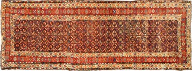 Antique Persian Runner, 4' x 11'