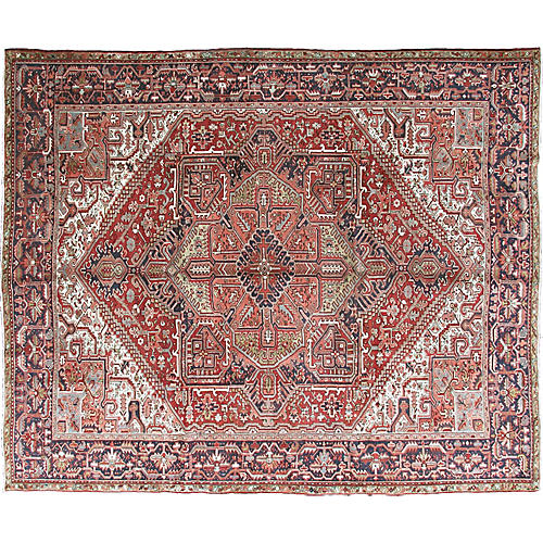 "Large Persian Heriz Carpet, 9'8"" x 12'3"""