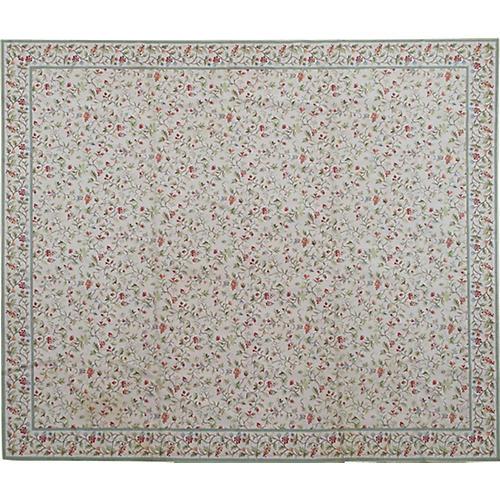 "Large Floral Stark Carpet, 13'4"" x 15'2"""