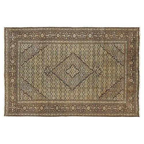 Vintage Persian Tabriz Rug, 6'4 x 9'5