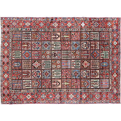 Persian Garden Bakhtiari Rug, 8'9 x 11'9