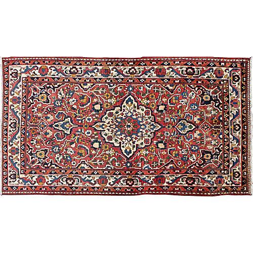 """Persian Bakhtiari Rug, 4'5"""" x 8'7"""""""