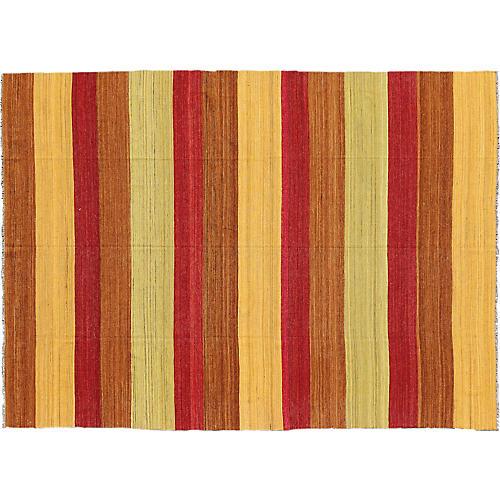 """Striped Kilim, 8'6"""" x 11'2"""""""
