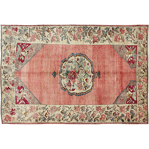"Turkish Oushak Rug, 5'4"" x 8'4"""
