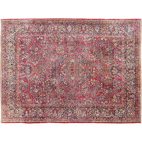 """Antique Persian Carpet, 10'5"""" x 13'6"""""""