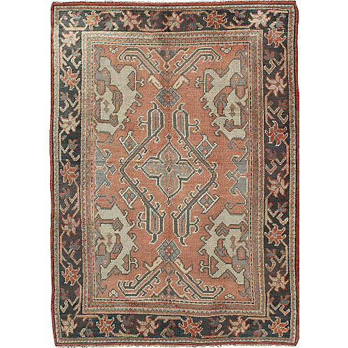 "Turkish Oushak Rug, 5'3"" x 7'10"""