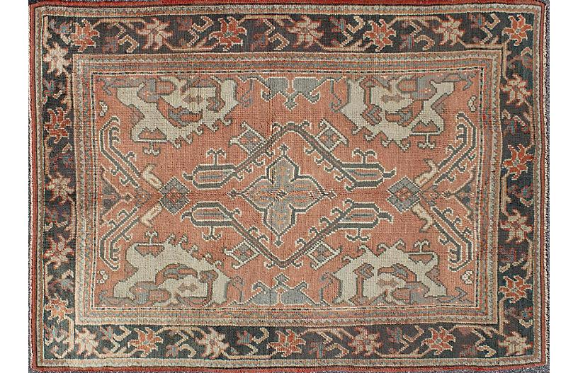 Antique Turkish Oushak Rug, 5'3