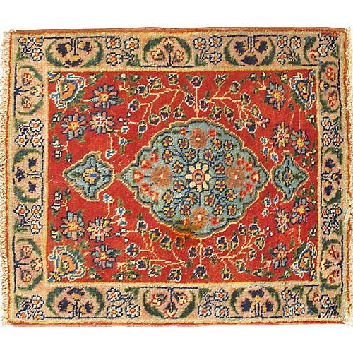 "Antique Persian Tabriz Rug, 1'11"" x 2'3"""