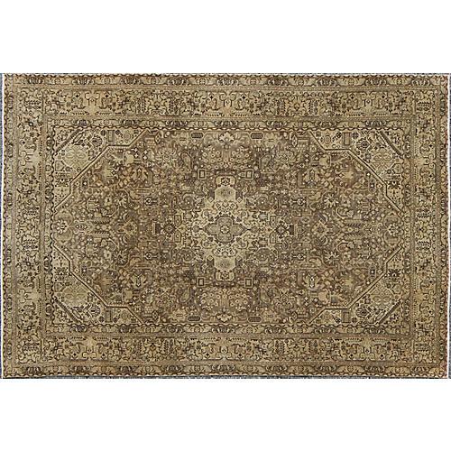 Vintage Tabriz Rug, 6'4 x 9'4