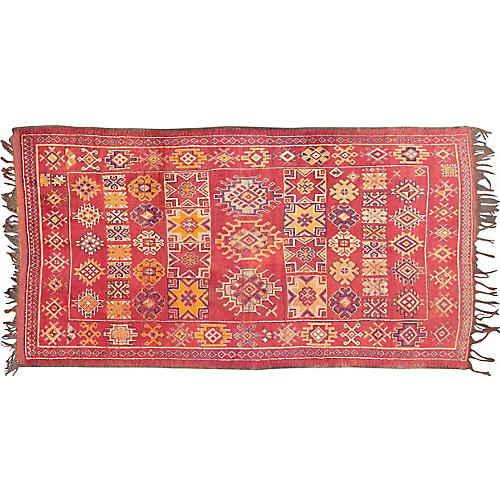 "Antique Moroccan Rug, 5'4"" x 10'"