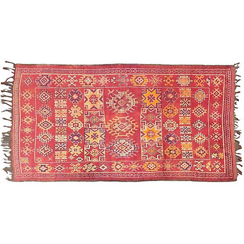 """Antique Moroccan Rug, 5'4"""" x 10'"""