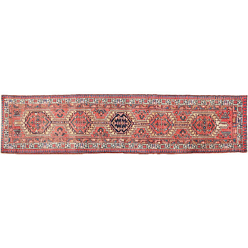 "Antique Karajeh Runner, 3'6"" x 15'6"""