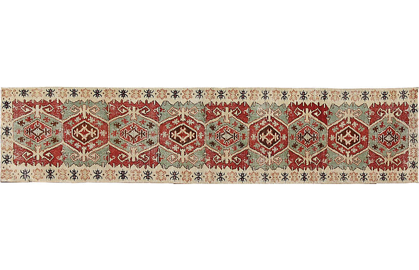 Turkish Oushak Runner, 2'11
