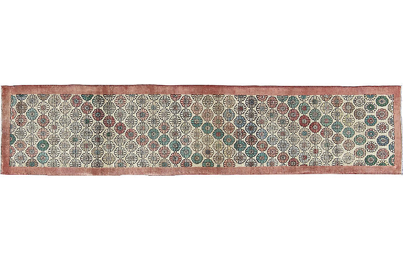 Vintage Turkish Modern Runner, 2'7 x 12'