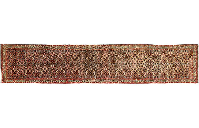 Antique Persian Malayer Runner, 3'3x16'1