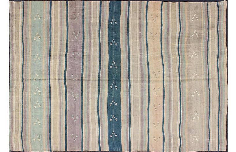 Striped Vintage Kilim 4'8 x 7