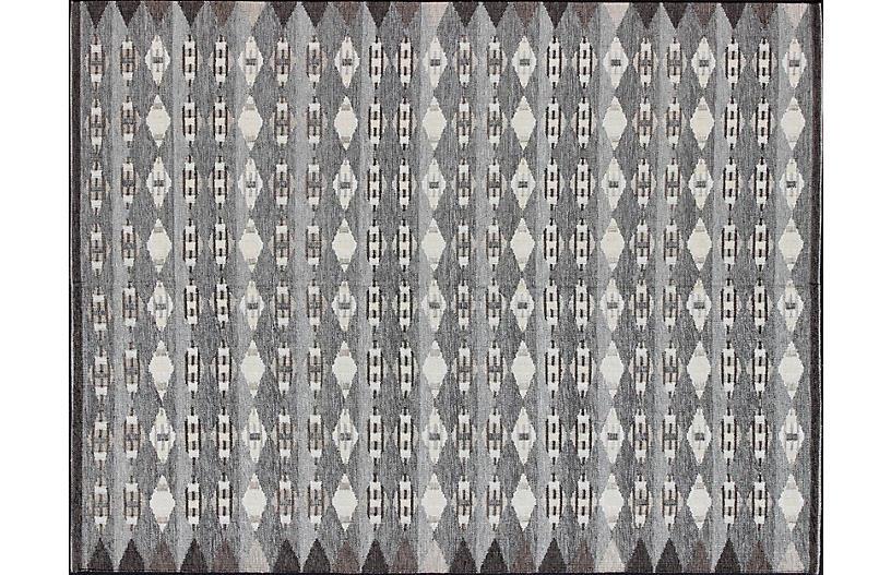Scandinavian Flat-Weave Rug, 10' x 14'