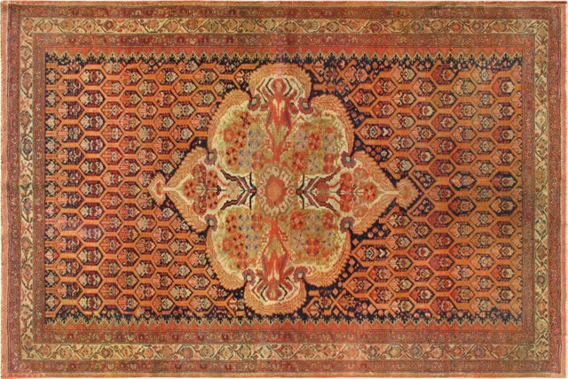 "Antique Mishan-Malayer, 4'2"" x 6'2"""