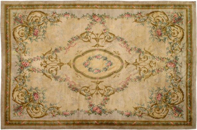 "French Savonnerie Carpet, 12' x 16'6"""