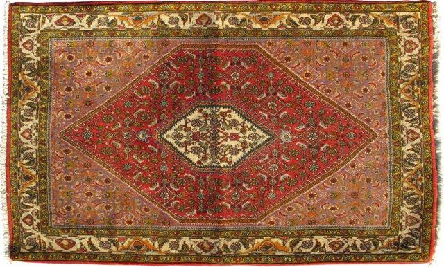 Antique Persian Bijar, 4' x 5'