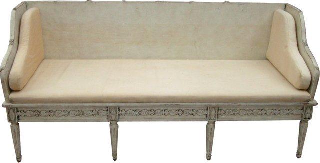 Swedish White Sofa