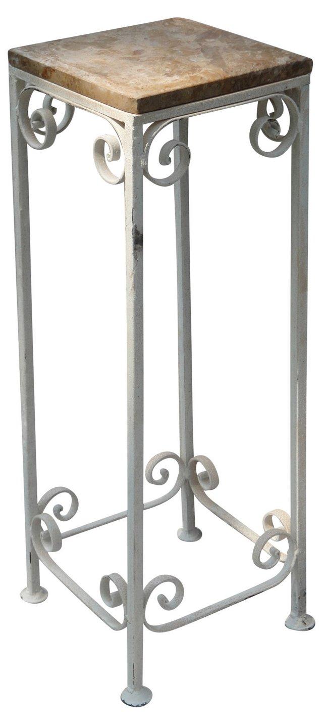 White  Wrought Iron Plant Stand