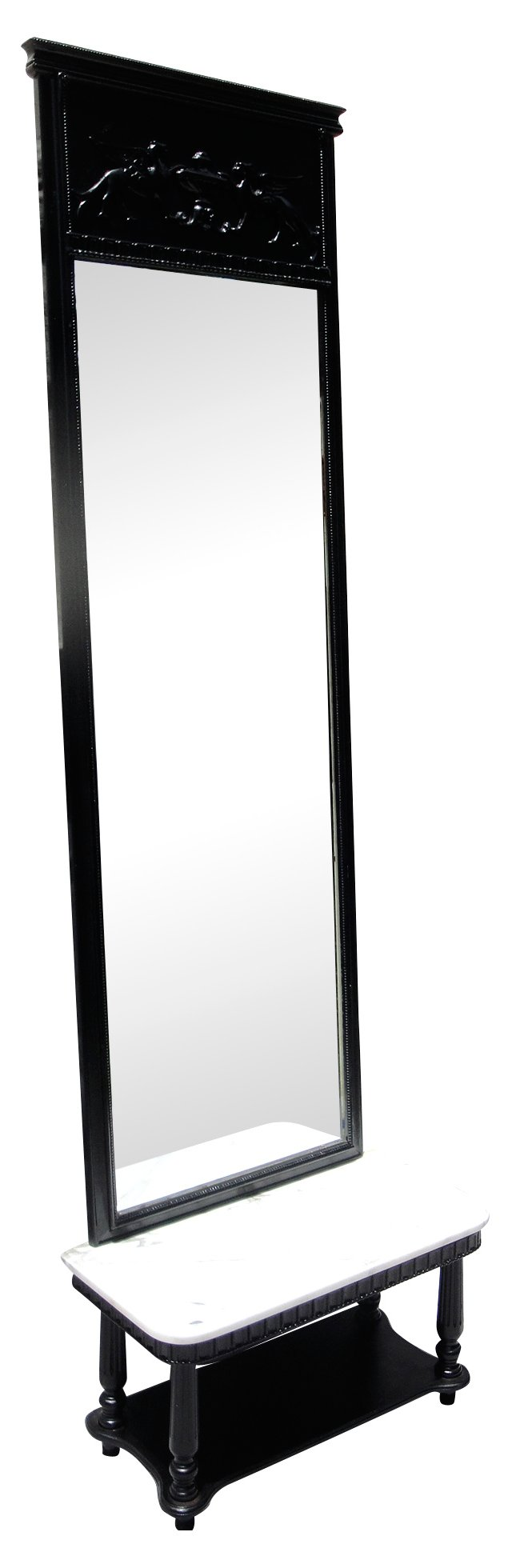 Griffin Pier Mirror w/ Marble Shelf