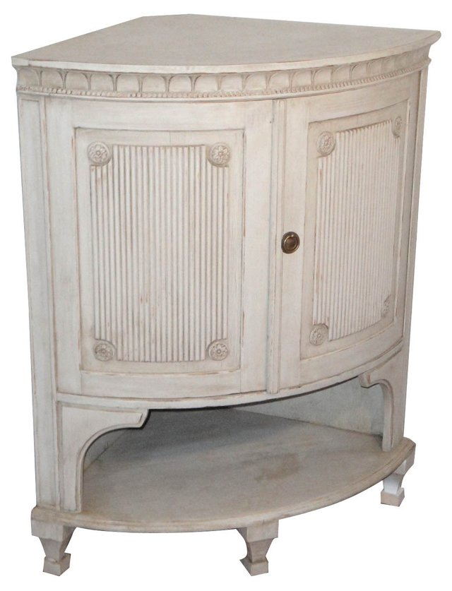 Gustavian-Style Corner Cupboard