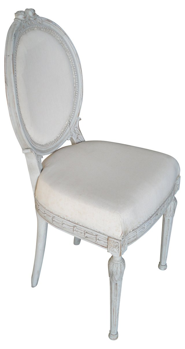 Gustavian Rosette Side Chair